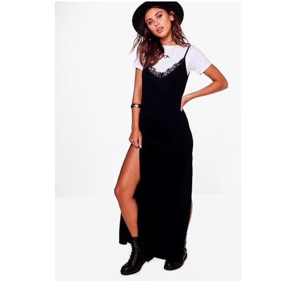 be14b61f1c8 Petite Saskia Lace Trim Maxi Slip